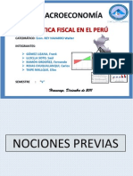 EXPOSICION DE MACROECONOMIA - Política Fiscal