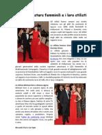 Hollywood Stars Femminili e i Loro Stilisti