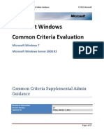 Windows 7 - WS08 R2 Common Criteria Supplemental Admin Guidance