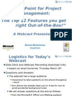 Share Point for Project Management-The Top 12 Features You Get Right Out-Of-The-Box