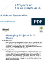 Managing Projects on Share Point is as Simple as 1-2-3 (3)