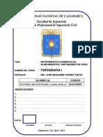 PRACTICA 1- Instrumentos Elementales,Alineamientos y Cartaboneo de Paso
