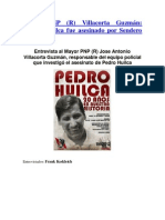 """Pedro Huilca fue asesinado por Sendero Luminoso"" - Mayor PNP (R) Villacorta Guzmán"