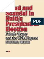 Fraud and Scandal in Haiti's Presidential Election