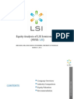 Equity Valuation of LSI Semiconductor (Deb Sahoo)
