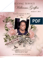 Gloria Griffin Funeral Program