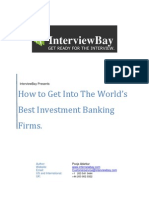 InterviewBay - How to Get Into The World's Best Investment Banking Firms