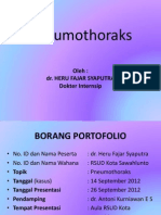 Presentasi pneumothoraks