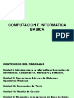 Computacion e Informatica Introduccion