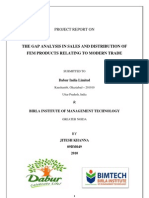 THE GAP ANALYSIS IN SALES AND DISTRIBUTION OF FEM PRODUCTS RELATING TO MODERN TRADE.