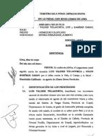Sentencia Valdez Villacorta