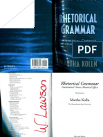 84874581 Rhetorical Grammar Martha Kolln