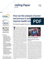 Power Process Policy Making Health Outcomes