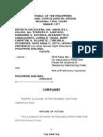 Halaguena vs PAL Petition for Declaratory Relief
