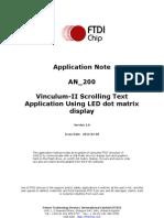 An 200 Vinculum-II Scrolling Text Application Using LED Dot Matrix Display