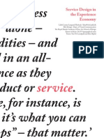 Service Design in the Experience Economy