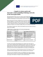 Report Science Parks Innovative Centres Finaldraft