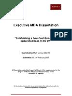 Space Tourism MBA Dissertation - Mark Morley