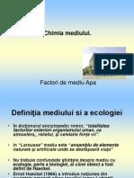 Chimia Mediului Apa CA Factor de Mediu