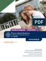 Informator 2013 - Studia II Stopnia - Wyższa Szkoła Bankowa w Opolu
