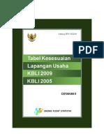 Tabel Kesesuaian KBLI 2009 2005 II
