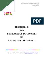 Historique Sur Revenu Social Garanti