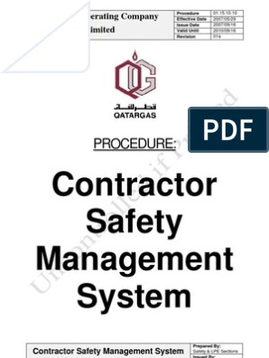 01 15 10 10Rev01a+ +Contractor+Safety+Management+System