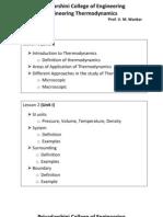 Engineering Thermodynamics Lesson Plan