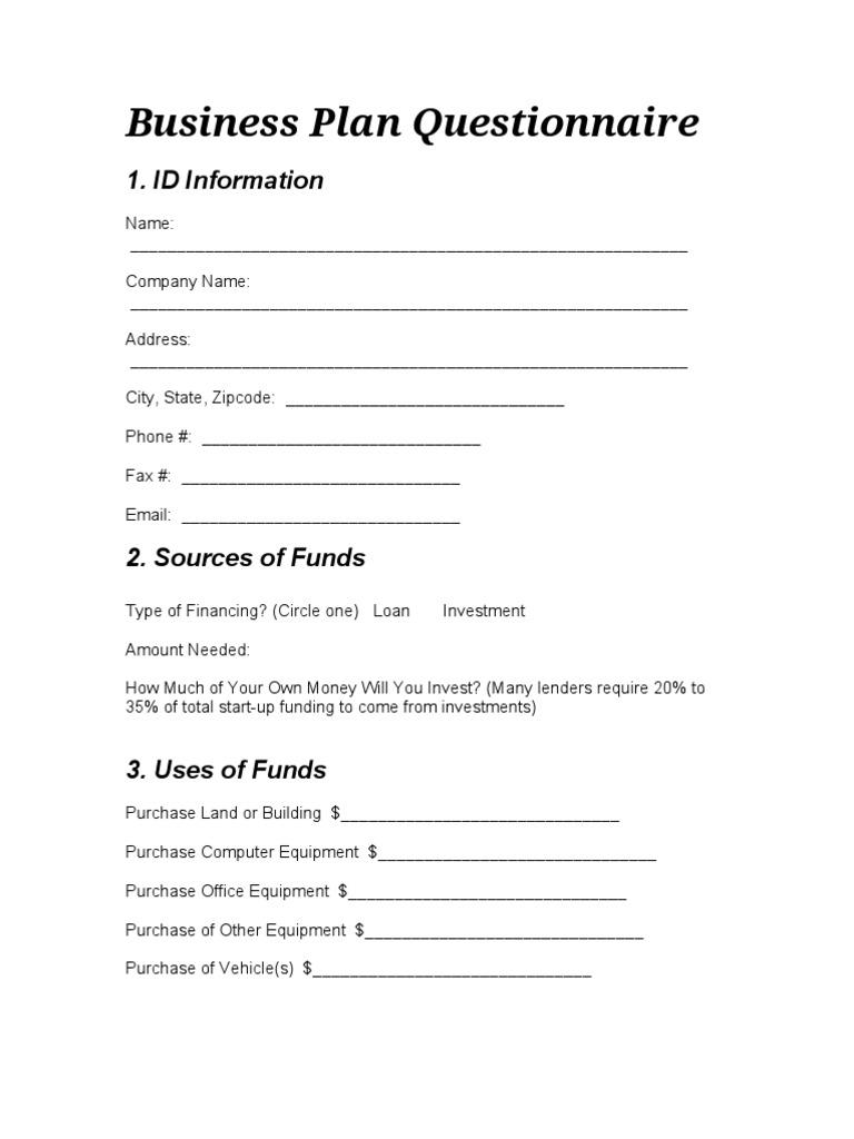 Questionnaire business plan popular critical essay ghostwriters site us
