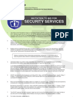 Invitation to Bid - Security Services
