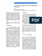 Experimental And Theoretical Investigation Of Acoustic Metamaterial.pdf
