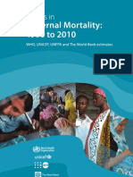 Trends in Maternal Mortality 1990 to 2010