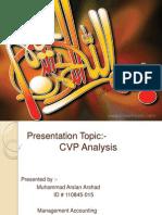 CVP Analysis  by Arslan ch
