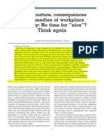On the nature, consequences and remedies of workplace incivility