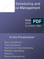 Project Scheduling and Resource Management PPT (Dinesh K. C.)