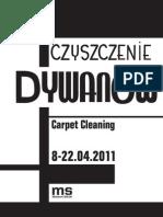 Czyszczenie dywanów - folder wystawy