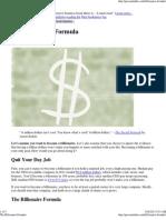 The Billionaire Formula