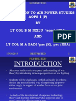 Introduction to Air Power Studies 2010