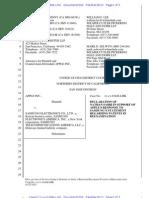 13-04-16 Apple Declaration Regarding Patent Reexaminations