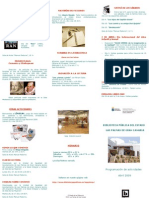 Biblioteca Pública del Estado - agenda de abril