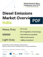 Market Overview Diesel Emissions Conference India 2012 WB