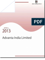 Advanta India Limited Expanding International Presence via Extensive Research and Development