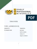 Address Book in c