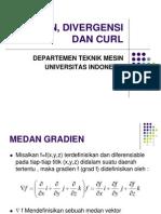 Gradien, Divergensi Dan Curl
