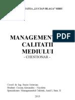 Managementul Protectiei Mediului
