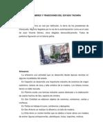 COSTUMBRE Y TRADICIONES DEL ESTADO TÁCHIRA