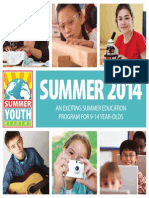 MNTC Summer Youth Academy Catalog