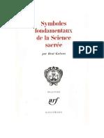 René Guénon - Symboles fondamentaux de la Science Sacrée