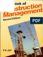 Handbook of Construction Management