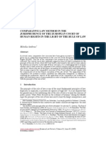 Comparative Law Method in The